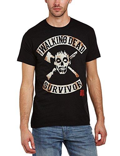 The Walking Dead Zombie Survivor - T-Shirt - Schwarz, (T Apokalypse Shirt Zombie)