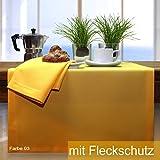 Sander Tischdecke Loft gelb Größe 150x300 cm