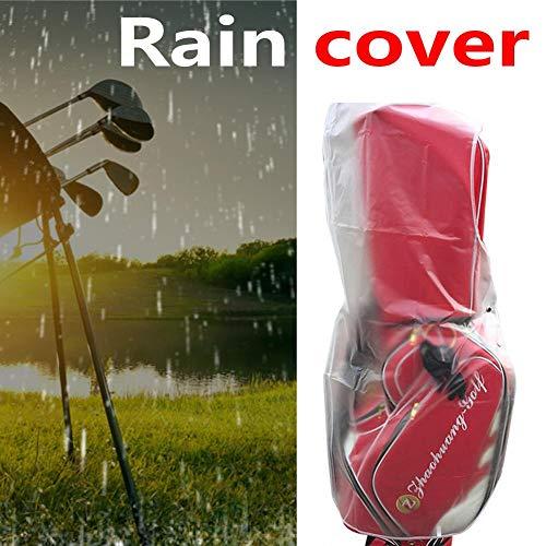 Bulary PVC Transparent Golf Regenhülle Umweltfreundlich Leichte Golf Bag Regen Abdeckung Tasche Wasserdicht