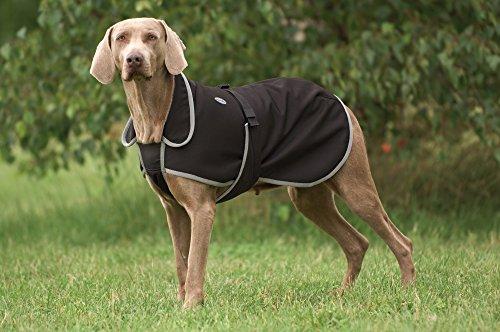Artikelbild: Ekkia Hundemantel Softshell, Hundejacke, schwarz, 30cm
