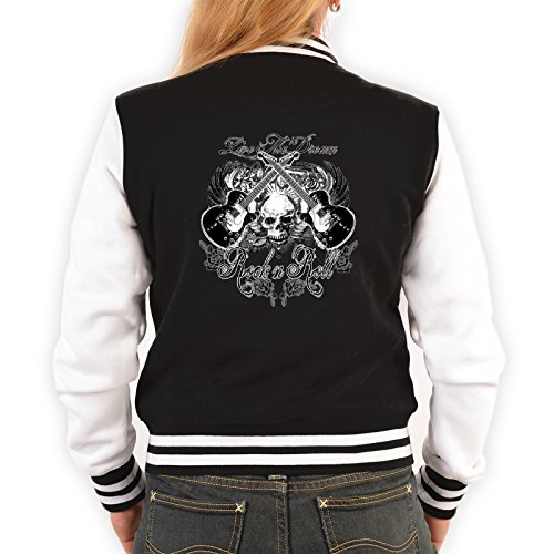 US Girl College Jacke - Gothic Live The Dream - Motiv auf der Rückseite Gothic School Girl