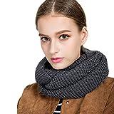 Tuopuda Bufandas Cuello Mujer Moda Mujeres Invierno Cálido Cable de punto cuello de la capucha del mantón de la bufanda larga (gris)