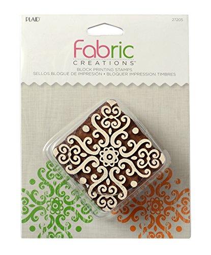 Medallion-block (Mod Podge Fabric Creations-Blockdruck Stempel-Medium Barockes Medallion, Synthetisches Material, Braun, 15.4 x 11.5 x 4 cm)
