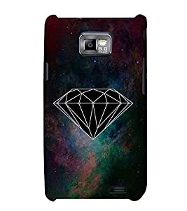 FUSON Abstract Diamond Triangle Pattern 3D Hard Polycarbonate Designer Back Case Cover for Samsung Galaxy S2 I9100 :: Samsung I9100 Galaxy S Ii