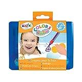 Aladine - Colors Bath - Crayons pour le Bain - Feutres de Bain - Pour Dessiner sur la Baignoire ou Sous l'Eau -  Avec boîte de...