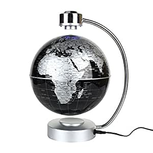 Buy zjchao magnetic levitation floating world map globe 8 rotating zjchao magnetic levitation floating world map globe 8quot rotating planet earth globe ball with gumiabroncs Gallery