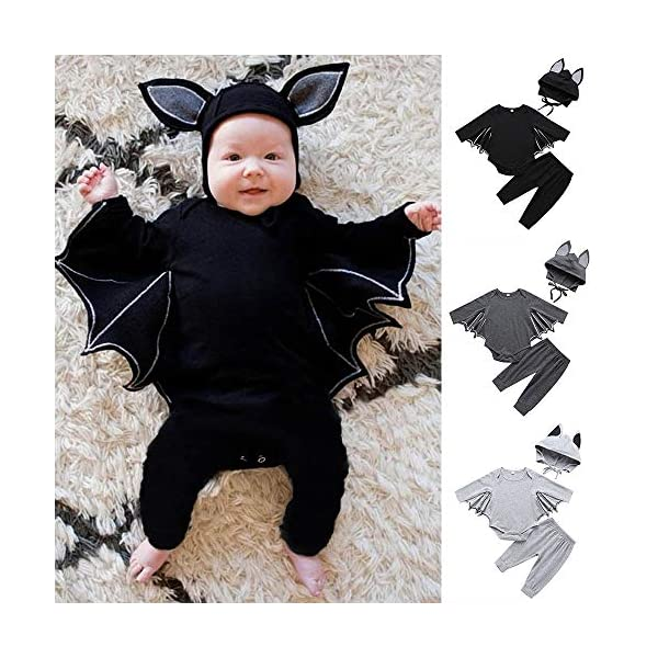 HAOHEYOU Halloween Cosplay Costume Romper Hat Outfits Set For Toddler Newborn Baby Boys Girls Outfit Bodysuit 2