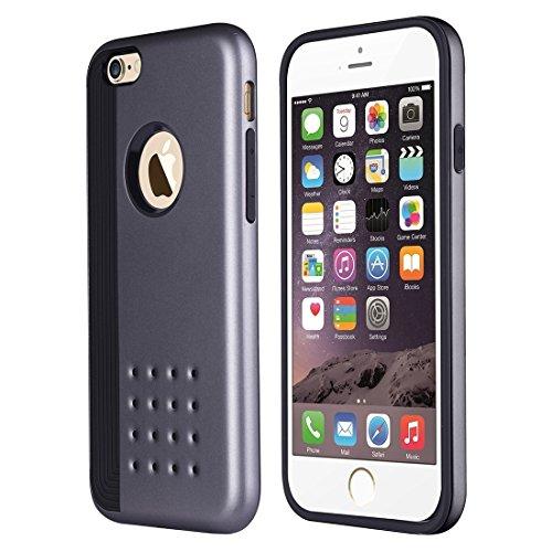 Für iPhone 6 Plus / 6s Plus, Cookies Patterns Dual-Layer Tough Armor TPU + PC Kombi-Fall DEXING ( Color : Grey ) Grey