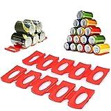 BUYGOO 2PCS Bac pour Refrigerateur Tapis Rangement Frigo Organisateur en Silicone, Range Canette et Support Bouteille Easy Gerbeur, Tapis pour Ranger Bouteille Frigo Organisation