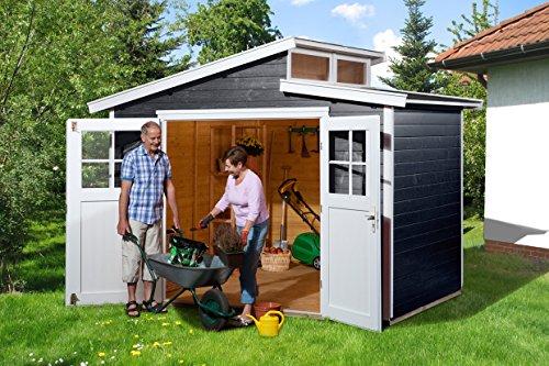 weka Gartenhaus 226 Gr.3, anthrazit, 21 mm