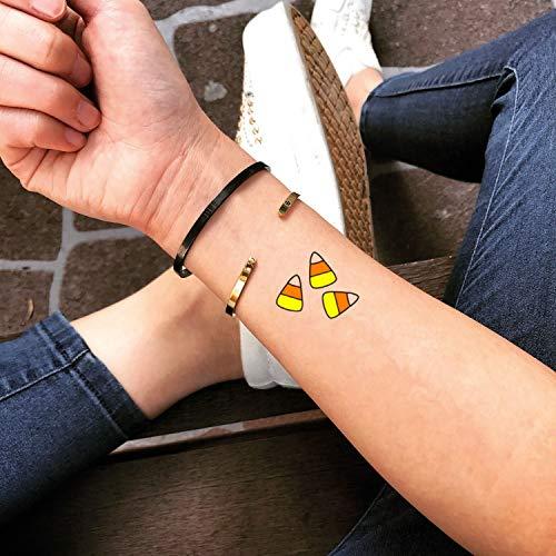 Süßigkeiten Mais temporäre gefälschte Tätowierung Aufkleber abwaschbares Tattoo (Set von 2) - www.ohmytat.com