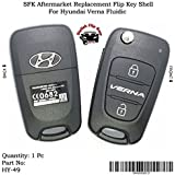 SFK Aftermarket Replacement Flip Key Shell for Hyundai Verna Fluidic