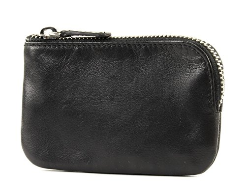 BREE Unisex-Erwachsene Pocket New 105, Black Soft, Key Case Geldbörse, Schwarz, 7.5x0.5x12 cm Pocket Case