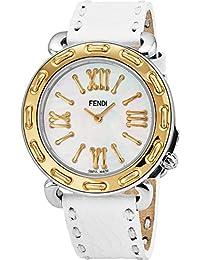 686412da8b71 Fendi Selleria Femme 35mm Bracelet Cuir Blanc Quartz Montre F8001345H0.SSN0