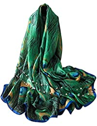 e596bceb8b35 5 ALL Echarpe Foulard Femme Impression Anti uv Coloré En Soie Grand Coton  Foulard Soie Chale