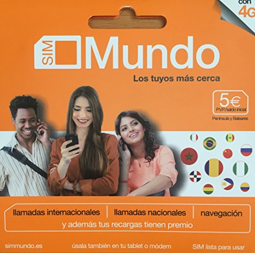 TARJETA SIM PREPAGO ORANGE MUNDO 5€ DE