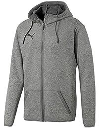 Puma Liga Casual Hoody Jacket, Giacca Uomo, Grigio (Medium Gray Heather Black), M