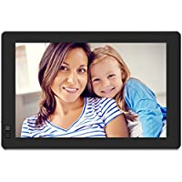 Nixplay Seed WiFi 10.1 Inch Widescreen Photo Frame with Alexa Integration, iPhone and Android App, 10GB Online Storage Included, Motion Sensor, Black - W10B