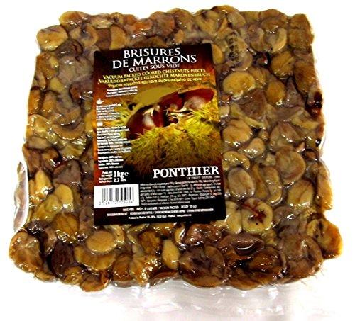 Preisvergleich Produktbild Maronen gebrochen,  Marronen Bruch,  Kastanien geschält,  gekocht,  vakuumiert,  Ponthier,  1 Kg