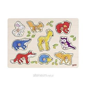 GOKI- Puzzles de maderaPuzzles de maderaGOKIAnimales del Bosque, Encaje, Multicolor (1)
