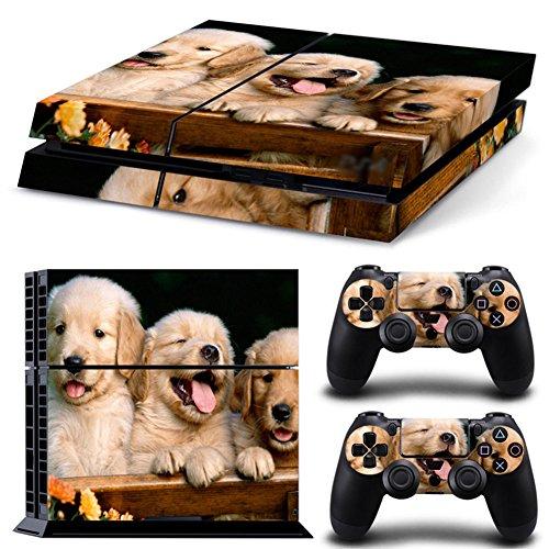 DOTBUY PS4Playstation 4Konsole Dualshock Controller Skins Design Foils Vinyl Skin Sticker Decal Sticker and 2Set Tier Hunde -