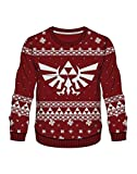 The Legend of Zelda Jumper Knitted Triforce Logo X-Mas Sweater Red-XL