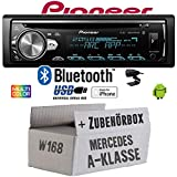 Mercedes A-Klasse W168 - Autoradio Radio Pioneer DEH-S5000BT - Bluetooth | CD | MP3 | USB | Android | iPhone 12V Radiopaket Einbauzubehör - Einbauset