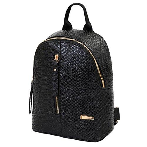 Imagen de  de cuero para mujer bolsas de escuela para adolescentes bolsa de viaje bolsa de hombro lmmvp 24cm*20cm*10cm, negro  alternativa