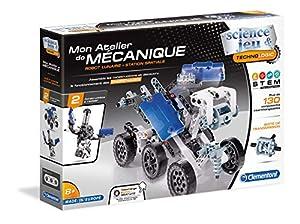 Clementoni Mon Atelier de mécanique-Robot Lunar y estación Espacial, 52339Carpeta