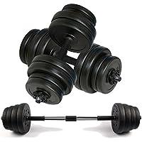 Dumbbell Set by Body Revolution – Adjustable Dumbbells Weight Set with Barbell Link Accessories - 10kg 15kg 20kg 30kg 40kg 50kg