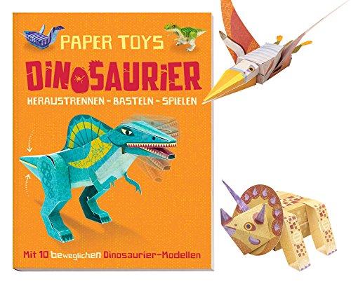 Paper Toys: Dinosaurier (Heraustrennen - Basteln - Spielen): Mit 10 beweglichen Dinosaurier-Modellen - 5