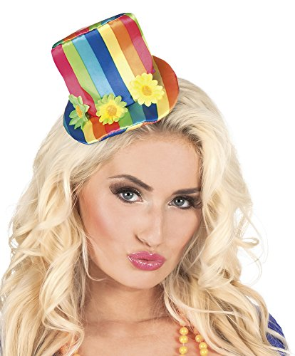 erdbeerclown - Kostüm Haarreif Tiara Candy Clown Regenbogen Hut, (Hüte Regenbogen)