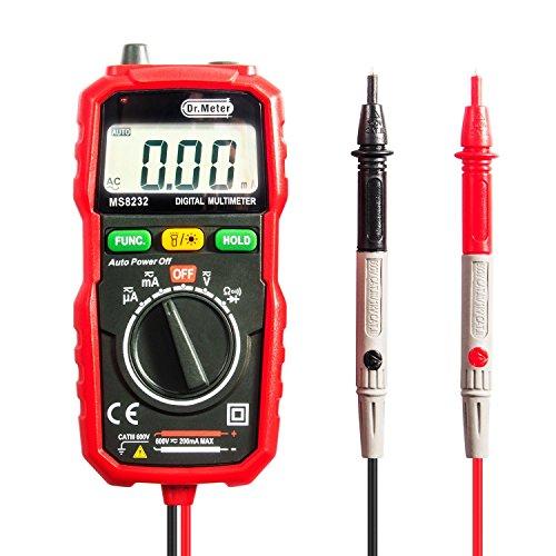 Digital Multi-tester (Pocket Digital Multimeter, Dr.Meter MS8232 Mini Auto Reichweite Multi Tester, AC / DC Spannung, Strom, Widerstand Tester mit Hintergrundbeleuchtung LCD)