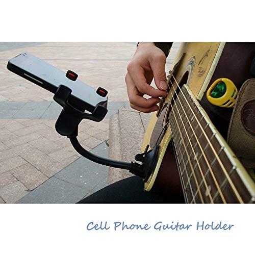 Oasislove Handyhalter Ständer für Gitarre, Streetsang, Liedtexte, Liedtexte, Autohalterung, Saugnapf, Musiker Gitarrenständer, Kfz-Halterung