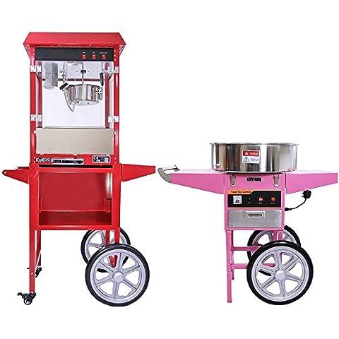 Kukoo - Máquina para Hacer Palomitas de Maíz y Máquina para Hacer Algodón de Azucar con Carritos