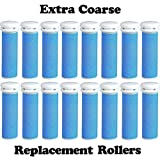 The Pedi Store EXTRA Coarse Micro Mineral Replacement Rollers Compatible with Emjoi Micro-Pedi Callous Remover for Rough Calluses (16 pack)