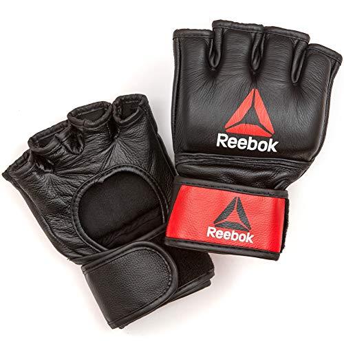 Guantes de Cuero de PU para Combate y Agarre Fortitude Fightwear Guantes MMA