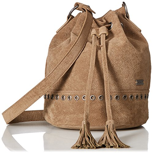 Damen Bucket Bag (Roxy Damen Hear Me Now Bucket Bag, Taupe, Einheitsgröße)