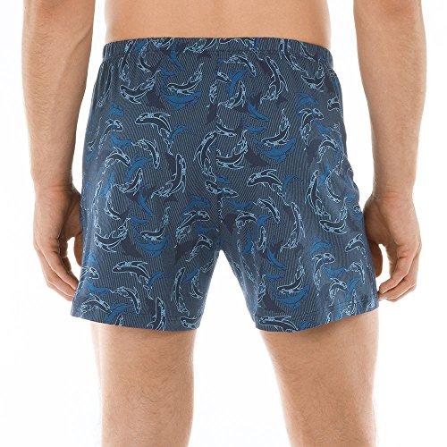 Calida Herren Boxershorts Prints Boxer Blau (denim 397)