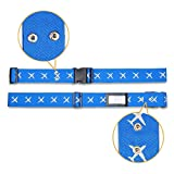 Yeenuo Adjustable Heavy Duty Long Luggage Strap Suitcase Belt Tag Travel Bag Accessories, night vision effect /cross bundled technology, 2-Pcs (blue )