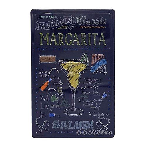 US geprägt klassisch Margarita, Retro Metall blechschild, Wand Deko Schild (Klassische Halloween-filme Familie)