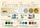 Leane Creatief Flower Glitter Foam Moosgummi 25.5183