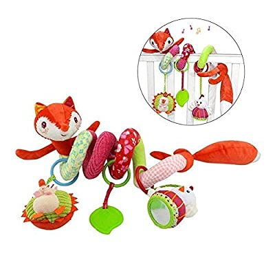 Freeas Baby Spiral Activity Hanging Toys Stroller toys Cart Seat Pram Toy with Ringing Bell (Fox)