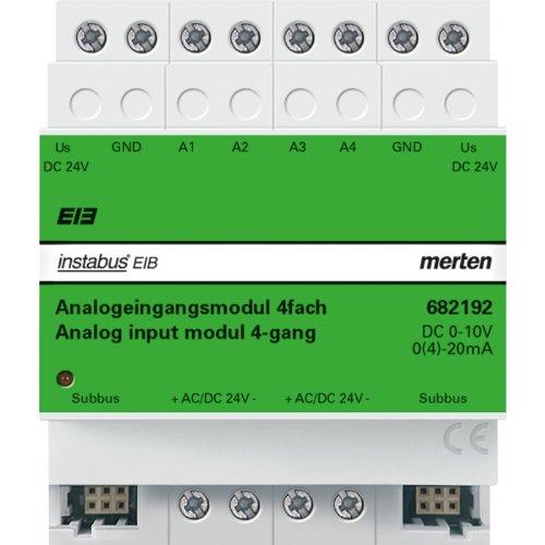 Merten 682192 Analogeingangsmodul REG/4fach, lichtgrau