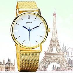Relojes mujer 2015 women's gold bracelet wrist watch Geneva Quartz mini Watch Stainless ultrathin luxury golden damske hodinky
