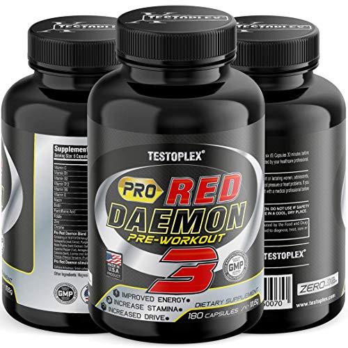 Pro Red Daemon Ultra Concentrate   T-Boost Formel mit Aminosäuren + Tribulus + Maca Extrakt + Boron - Testosteron Booster - Beliebt bei Bodybuildern & aktiven Männer - Niedrigen Testosteron