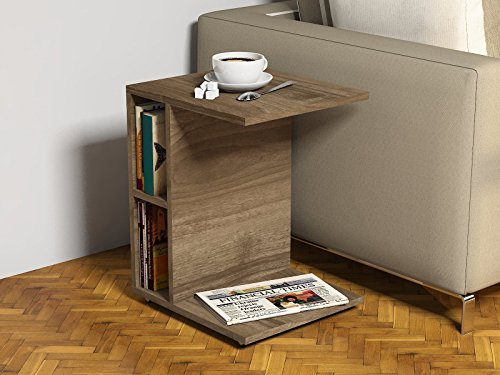 Ceylin tavolino basso da salotto con ruote materiale in legno