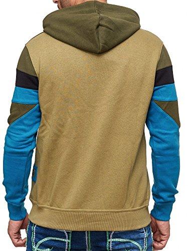 Rusty Neal Kapuzenpullover Sweatshirt Zipper Jacke Pullover Hoodie RN-19046 NEU Khaki