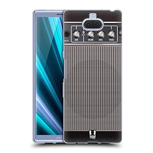 Head Case Designs Blau Verzerrung Gitarrenverstärker Soft Gel Hülle für Sony Xperia XA3 Ultra / 10 Plus