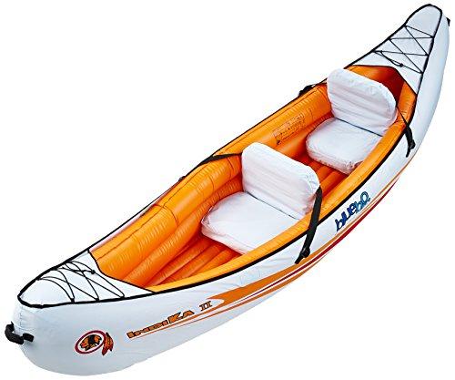 Blueborn Indika 2 Touren-Kajak 325x80 cm Kanu mit Nylonhülle für 2 Personen Schlauchboot Boot Ruderboot mit 165kg Tragkraft